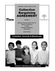 Collective Bargaining AGREEMENT - Spokane Public Schools