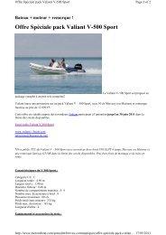 Offre Spéciale pack Valiant V-500 Sport - Brunswick Marine