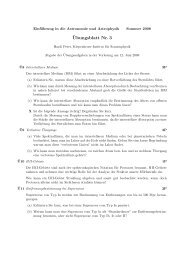 ¨Ubungsblatt Nr. 3 - Kiepenheuer-Institut für Sonnenphysik