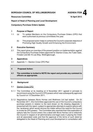 Download the Report item 4 - CPO updates - Wellingborough ...