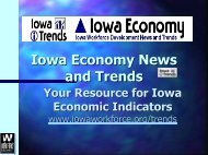 What is Iowa Trends? - Iowa Workforce Development