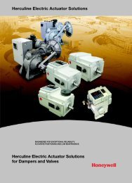 Herculine Electric Actuator Solutions for Dampers ... - Thermo-Kinetics