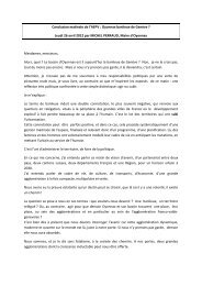 Conclusion par M. Michel PERRAUD, Maire d'Oyonnax - Aepv