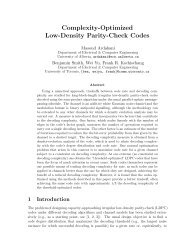 Complexity-Optimized Low-Density Parity-Check Codes