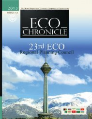 eco chroniacal 8-9.qxd - Economic Cooperation Organization