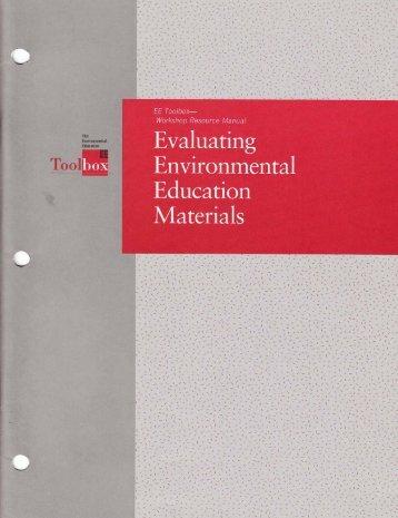 Evaluating Environmental Education Materials - North American ...
