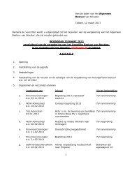 1 Aan de leden van het Algemeen Bestuur van Novatec Tolbert, 12 ...