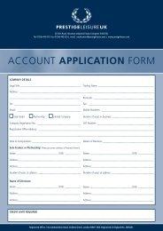 Account Application Form (.pdf) - Prestige Leisure