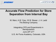 Accurate Flow Prediction for Store Separation from ... - CFD4Aircraft