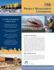 project management conference - Department of Public Works and ...