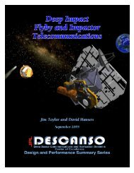 Article 9 Deep Impact Flyby and Impactor Telecommunications