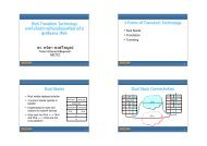 IPv6 Transition Technology เทคโนโลยีการปรับเปลี่ยนเครือขายไ - Nectec