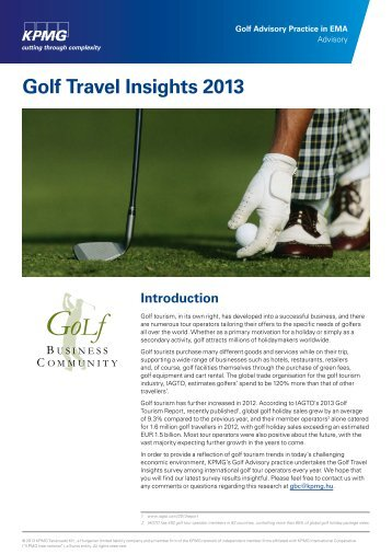 Golf Travel Insight 2012 - Golf Business Community