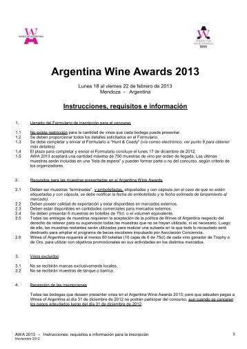 Argentina Wine Awards 2013 - Wines Of Argentina