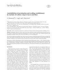 Autoinhibition of germination and seedling establishment by ...