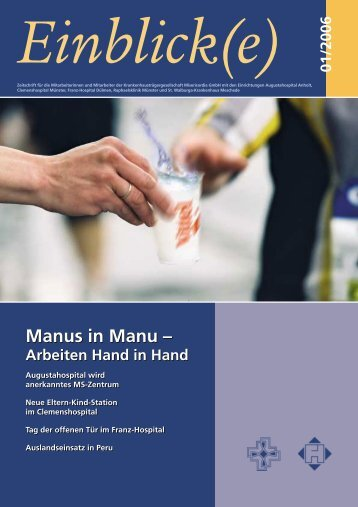 Manus in Manu - Misericordia GmbH Krankenhausträgergesellschaft