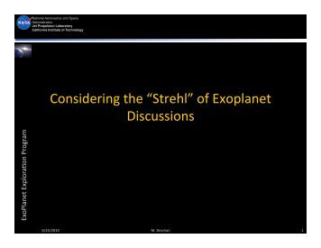 ExoPAG Discussion - Exoplanet Exploration Program - NASA