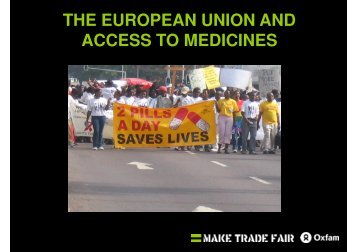 THE EUROPEAN UNION AND ACCESS TO MEDICINES