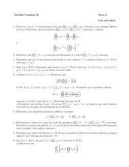 Variable Compleja II Tarea 3 5 de abril 2013 1. Sean {zn},{wn} ⊂ C ...