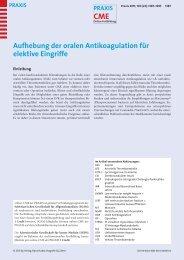 Aufhebung der oralen Antikoagulation für elektive ... - Spital Uster