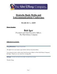 Event Transcript - The Walt Disney Company
