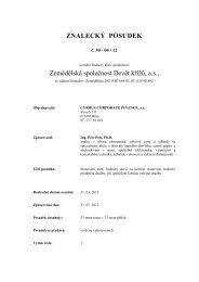ZNALECKÝ POSUDEK Zemědělská společnost Devět křížů, a.s.,