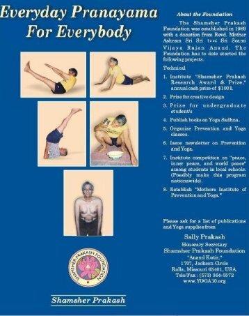 everyday pranayama for everybody - Shamsher Prakash Foundation