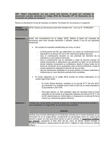 G69 - Servicio de Impuestos Internos