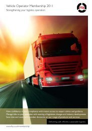 Vehicle Operator Membership 2011 - Freight Transport Association
