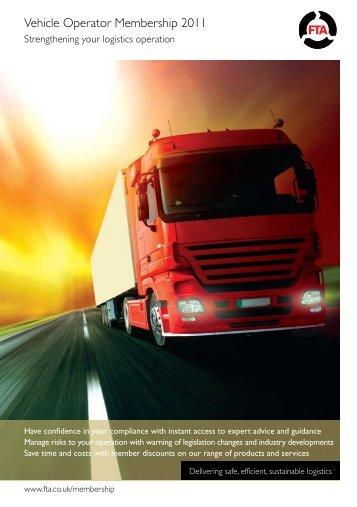 Vehicle Operator Membership 2011 - Freight Transport Association