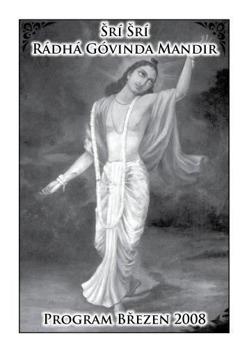 prosinec 2009 - Sri Sri Radha Govinda Mandir