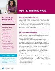 Open Enrollment Newsletter - Center for Human Resources