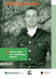 Broschüre Richtig heizen - Vorarlberg