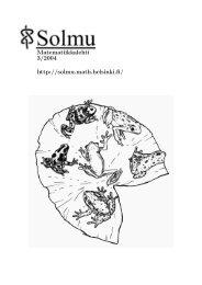 Koko lehti - Matematiikkalehti Solmu - Helsinki.fi