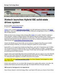 Xiotech launches Hybrid ISE solid-state drives system (PDF)