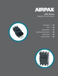 JAE, JRE, JLE Series - Airpax - Sensata