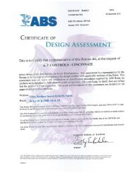 View our ABS Approved Certificate for Butterfly Valves - AT Controls