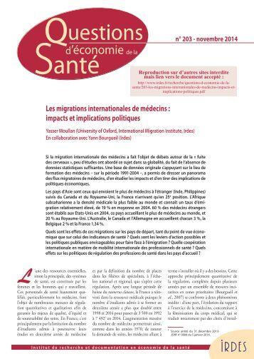 203-les-migrations-internationales-de-medecins-impacts-et-implications-politiques