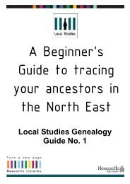 A Beginner's Guide to tracing your ancestors in - Newcastle City ...