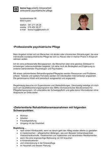 Professionelle psychiatrische Pflege Zielorientierte ...
