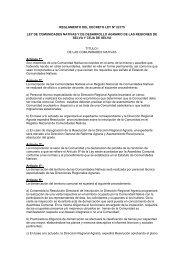 Reglamento de la Ley de Comunidades Nativas y de ... - Estrucplan