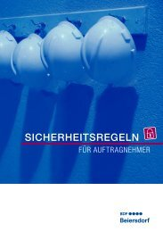 SICHERHEITSREGELN - Beiersdorf