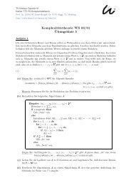 Komplexitätstheorie WS 00/01 ¨Ubungsblatt 5 - Automaten und ...