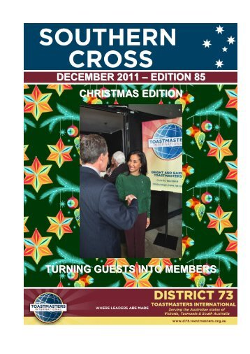 DECEMBER 2011 – EDITION 85 - District 73 Toastmasters