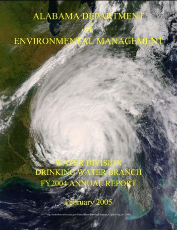 fy 2001 annual report - Alabama Department of Environmental ...