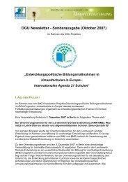 DGU Newsletter - Sonderausgabe - Deutsche Gesellschaft für ...