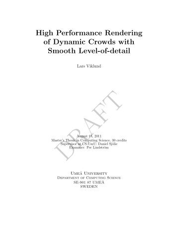High Performance Rendering of Dynamic Crowds with Smooth ...