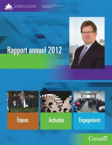 Rapport annuel 2012 - Commission canadienne des droits de la ...