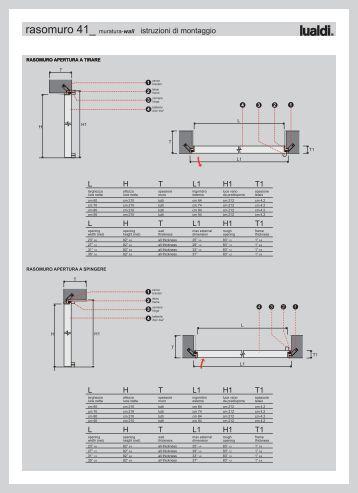 Rasotouch 55 r muratura wall istruzioni di montaggio lualdi - Porte lualdi rasomuro ...