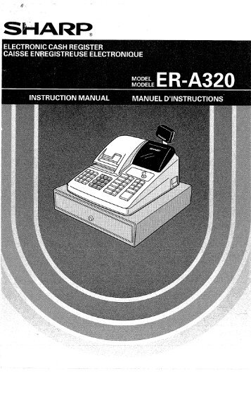 Sharp ER-A320 Operations Manual - Cash Registers Plus